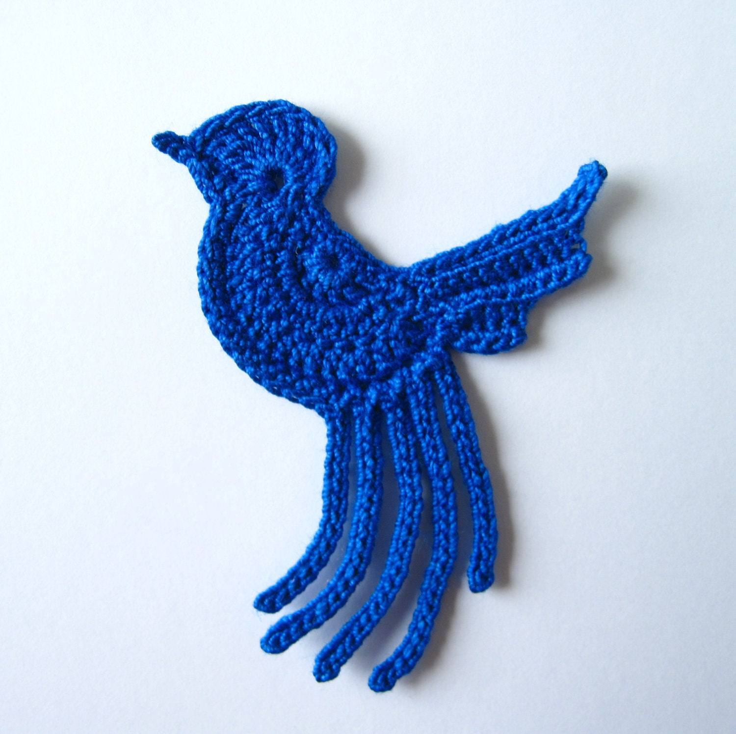 Crochet Blue Bird Applique By GoldenLucyCrafts On Etsy