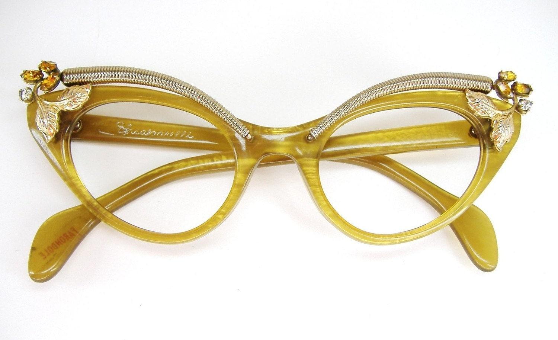 Vintage Schiaparelli Cat Eye Eyeglasses Frame