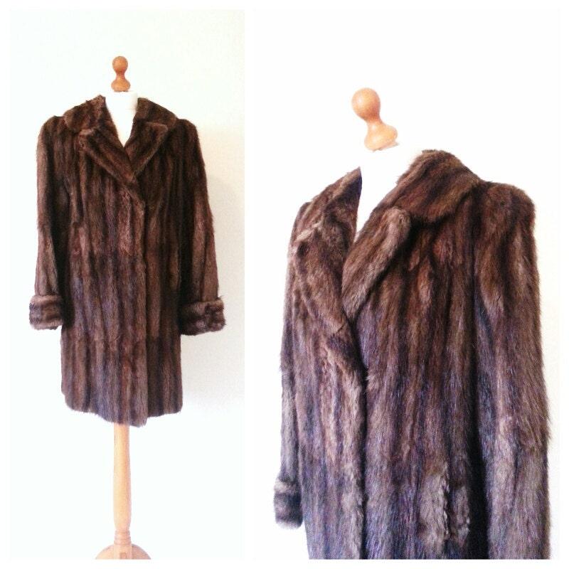 1950s mink fur coat - EllaandFrankVintage