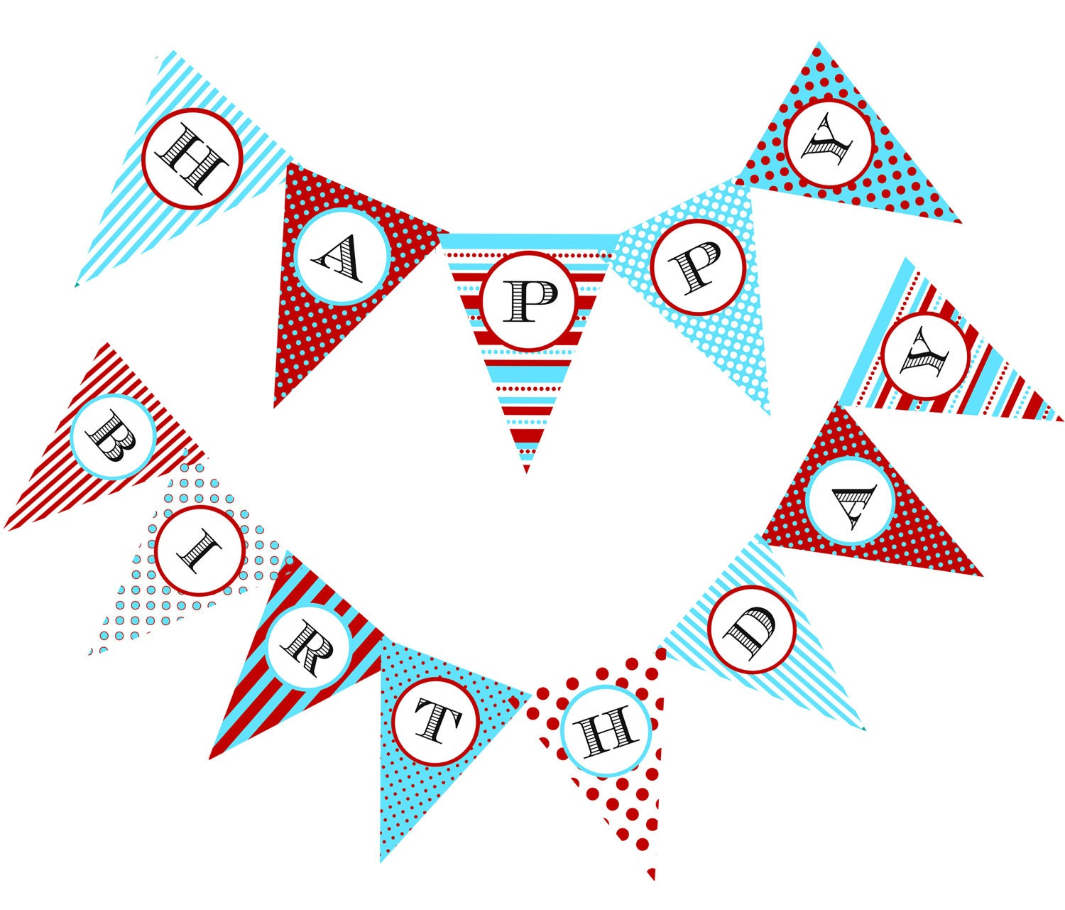 DIY Circus Birthday Banner Printable File By CakeFaceToppers