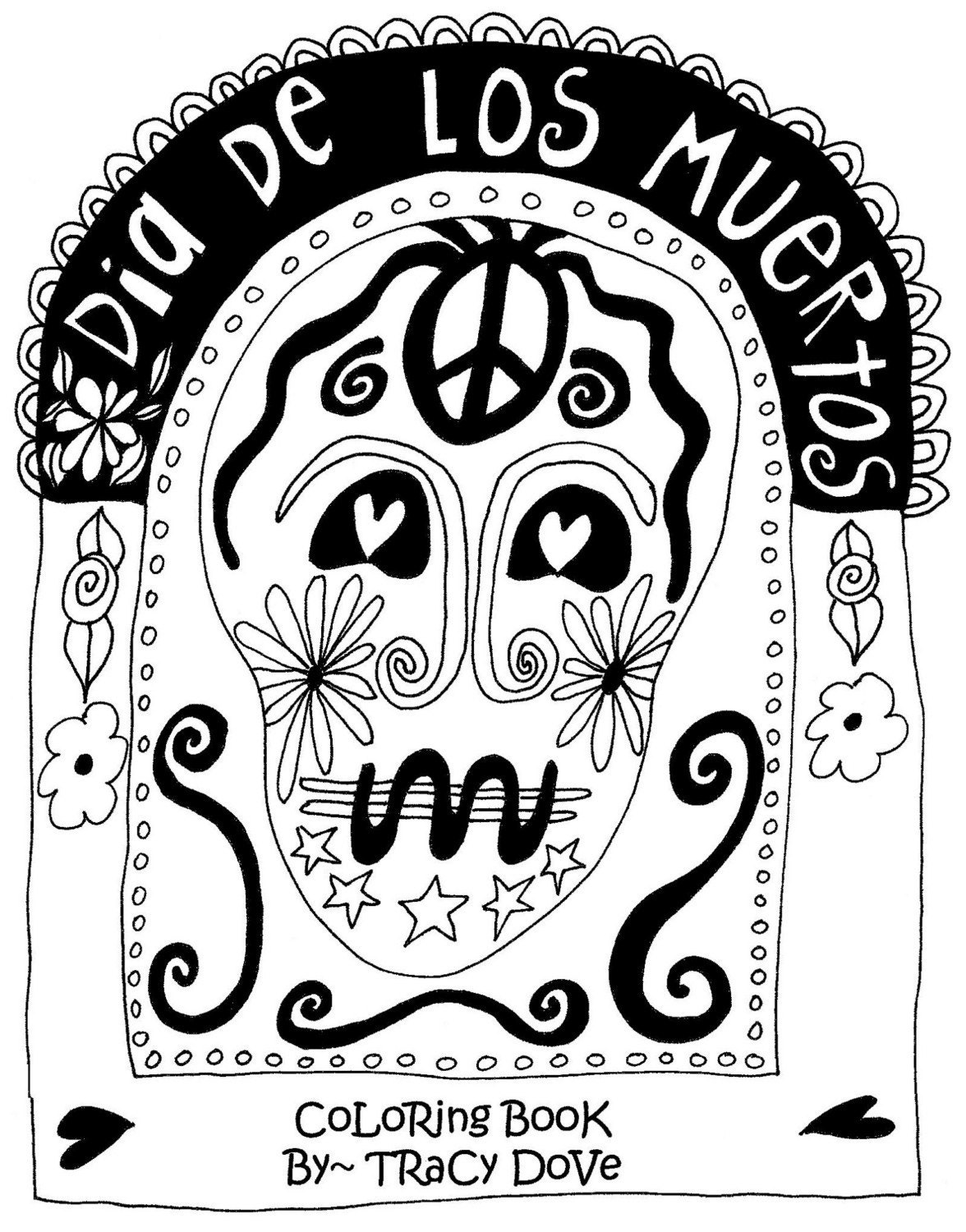 Coloring pages of printable for dia de los muertos la for Dia de los muertos coloring pages printable