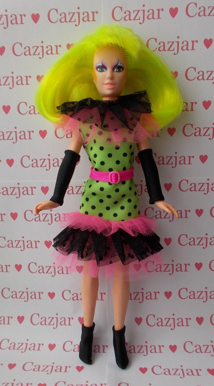 Handmade by Cazjar Jem and the Holograms Hasbro Doll Fashion Pizzazz Clown Dress