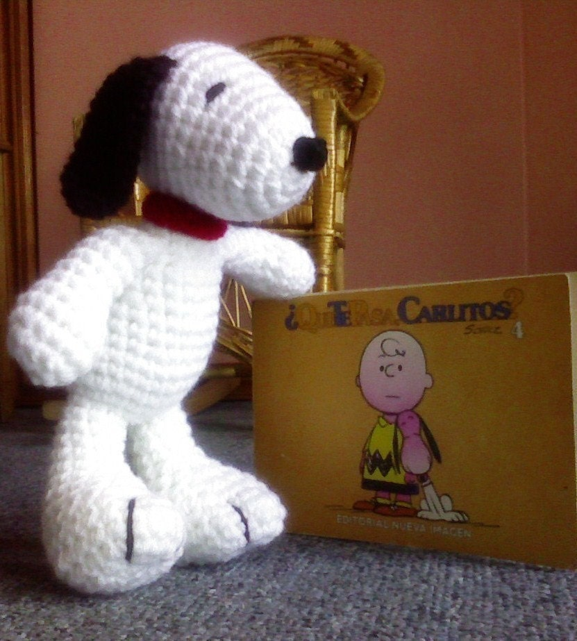 Amigurumi Patterns Snoopy : PDF Snoopy amigurumi doll 10 inches crochet by siemprejosefina