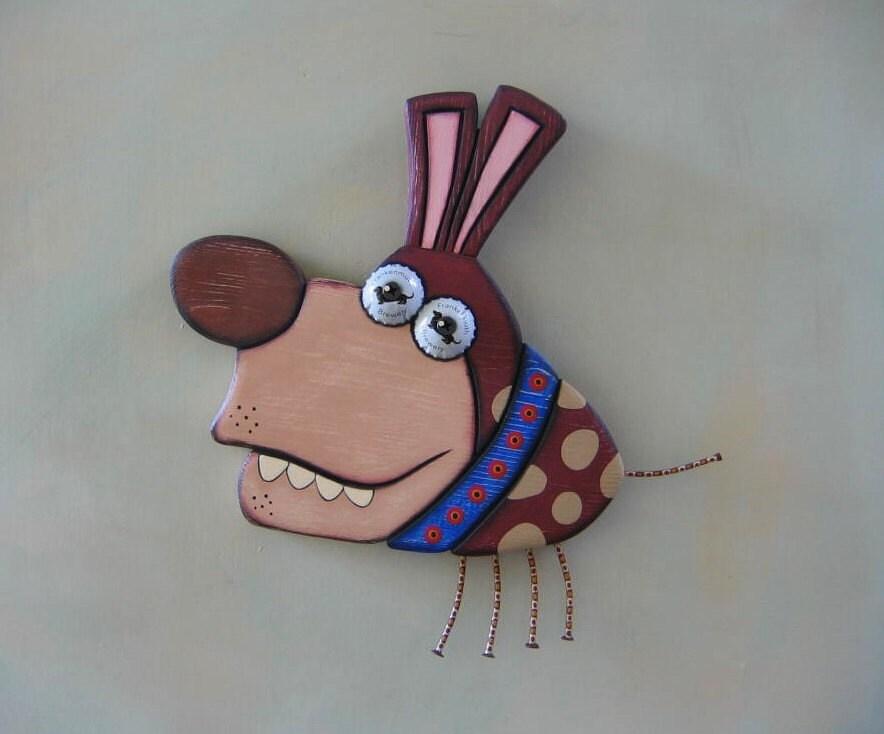 Bob Barker, Original objet trouvé Wall Art, Wood Carving, par Studio de confiture de figue