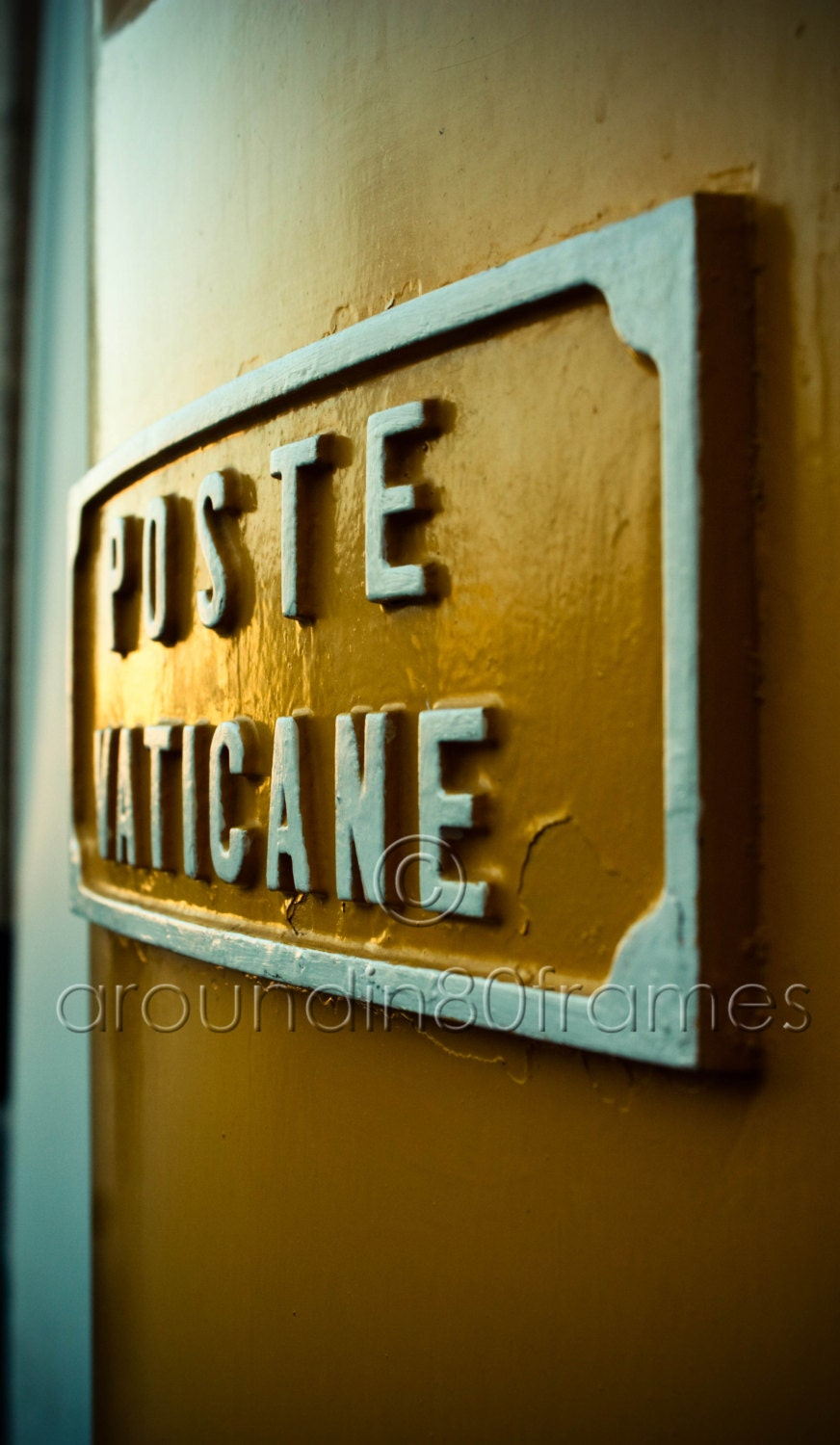 Poste Vaticane Mailbox, Vatican City, Italy- 8x10 Print- Travel Photography