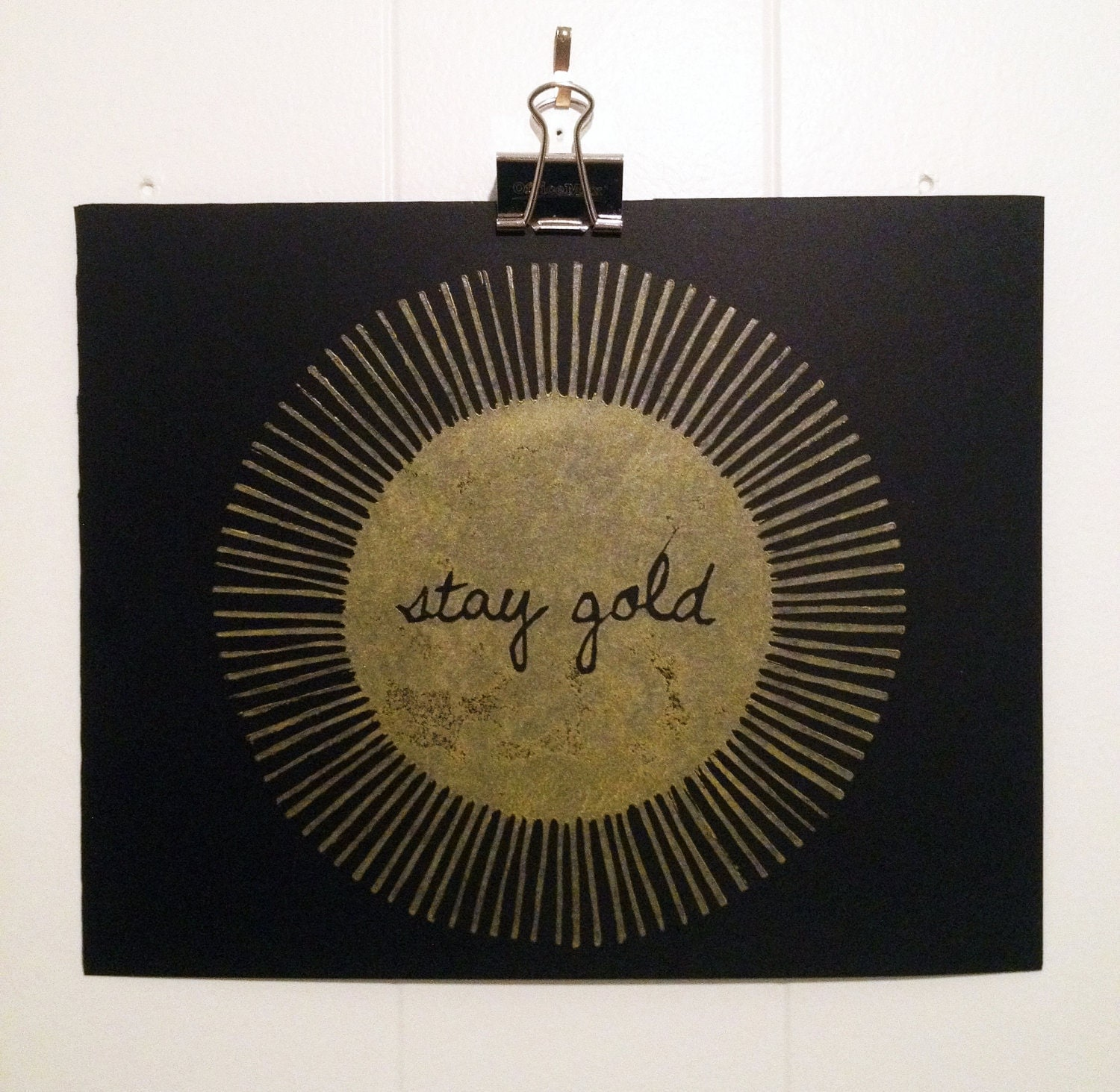 "Stay Gold Print 8"" x 10"" Black and Gold"