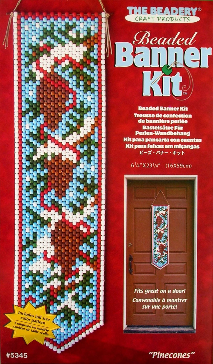5345 pinecones beaded banner kit by the by