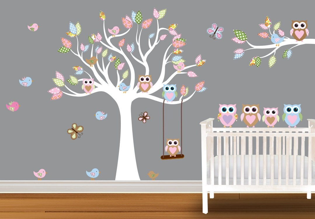 etsy your place to buy and sell all things handmade owl tree branch nursery wall sticker