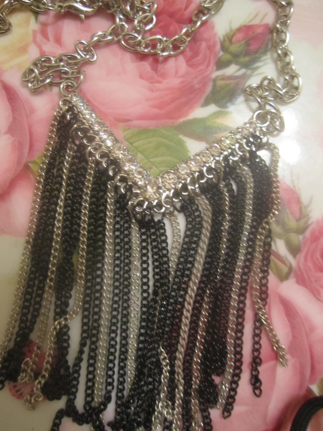 Jewel-Chain-Fringe-Bib-Necklace , Bling Bling