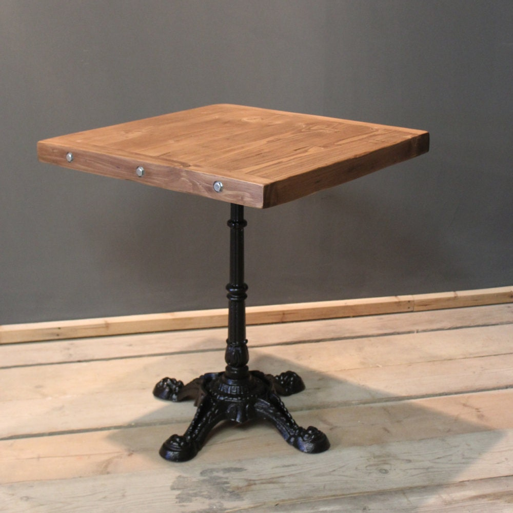 Table Bistro Cafe  Kitchen Table Handmade Rustic (The Horam)