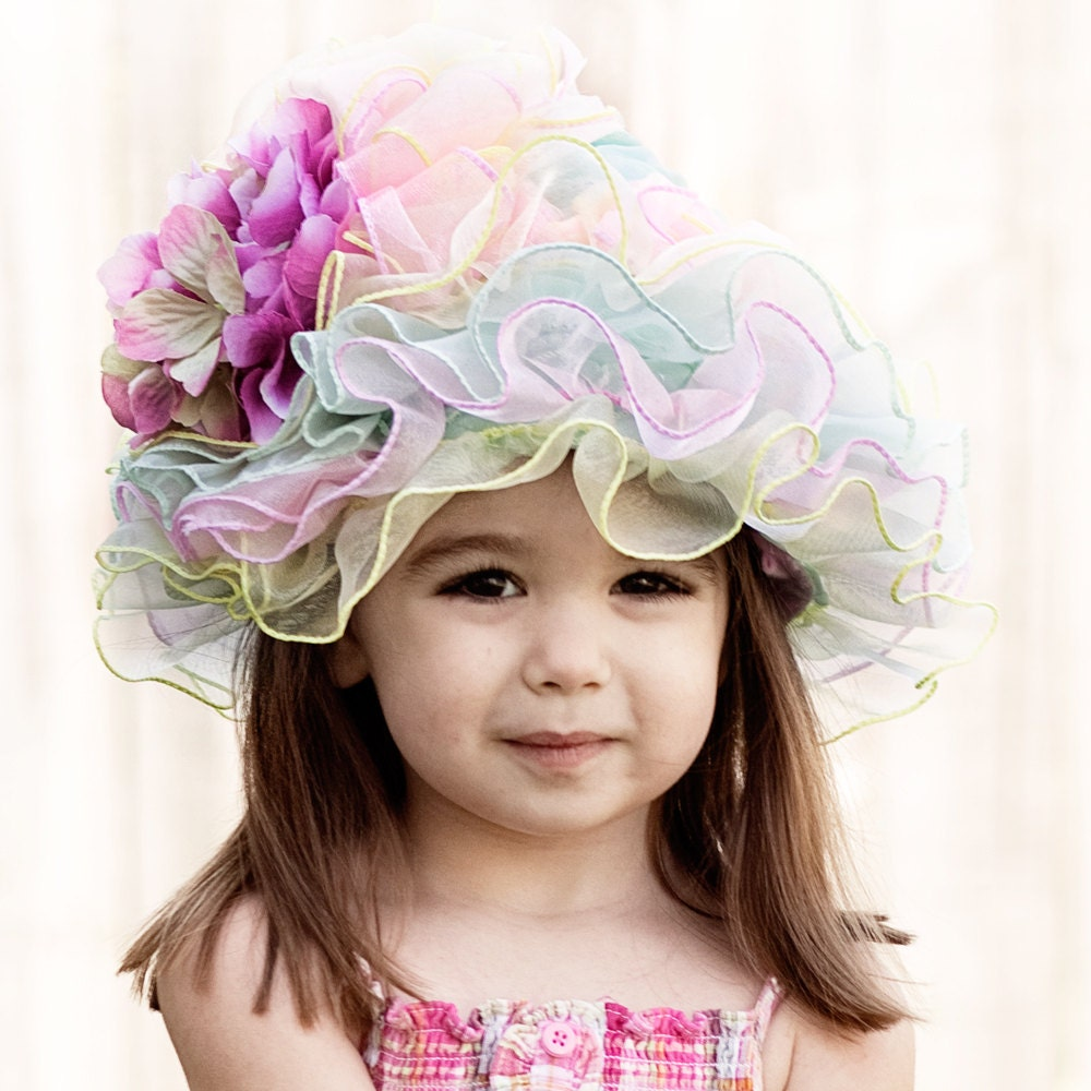Easter Hat, Flower Girl Hat, Toddler Baby Hat, Tea Party or your Sunday best hat. - Custom Order - Amarmi