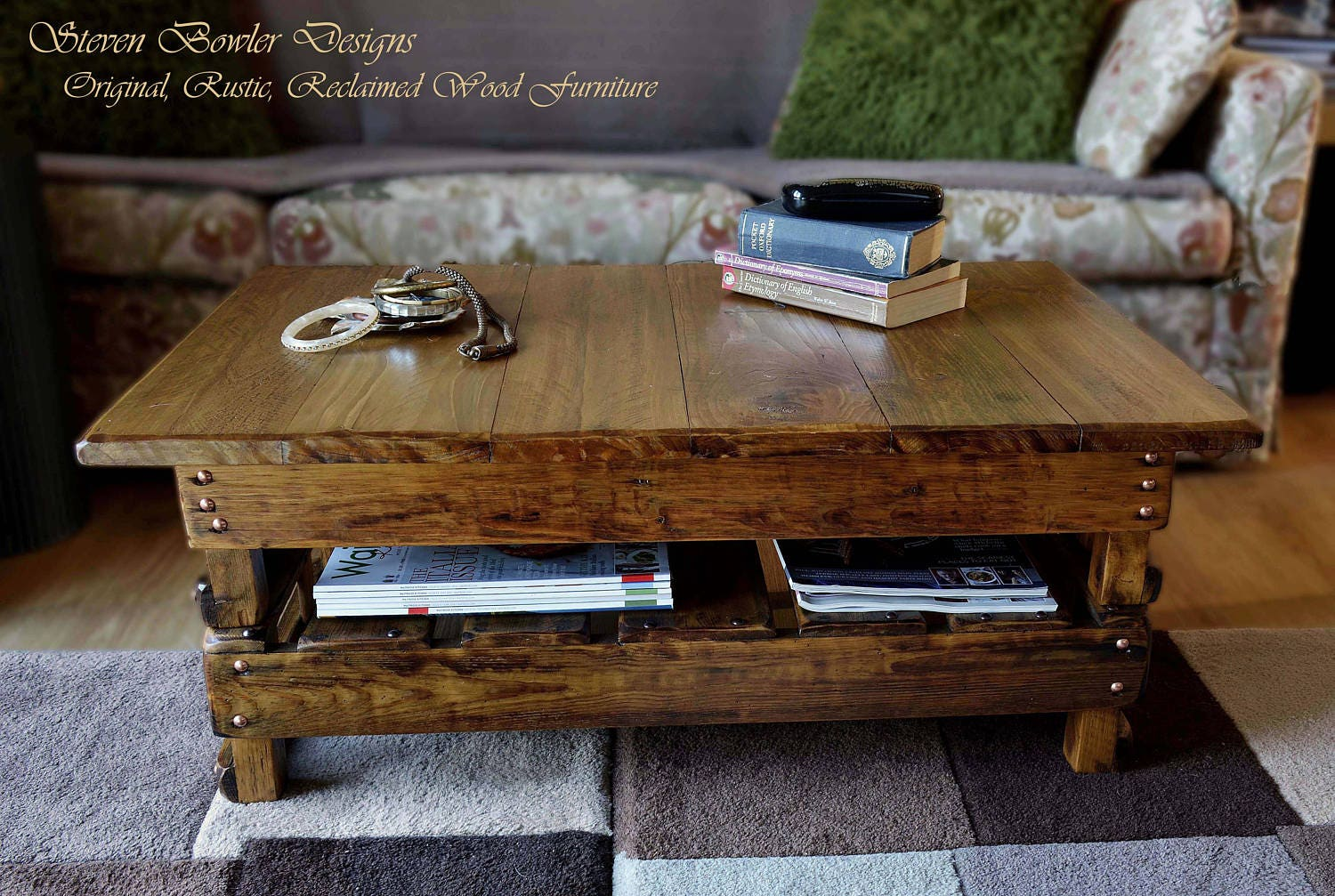 CUSTOM ORDER for Sharon 20 Deposit for a Bespoke Country Cottage Style Coffee Table 90 cm x 90 cm x 40 cm