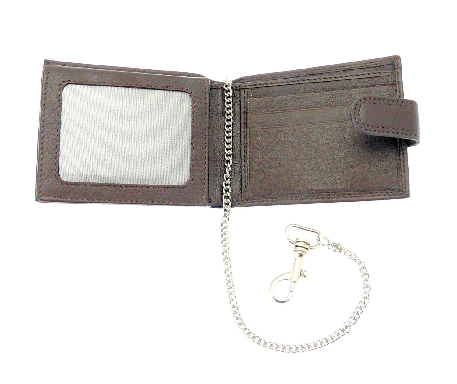Premium Mens Soft Leather Key Chain Wallet and Credit Card Holder  Holds 9 Credit Cards 1 ID Card  Notes  Brown Leather.  EE017BBROWN