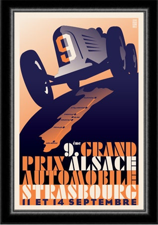 Auto Racing Terms on Art Deco 1930 S Auto Racing Grand Prix By Cieradkowskidesign