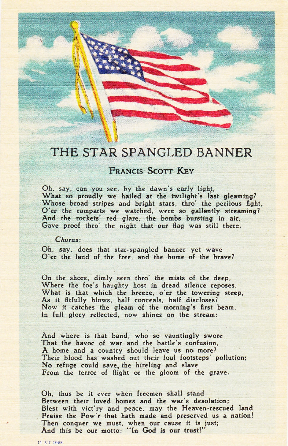 Items Similar To The Star Spangled Banner Francis Scott