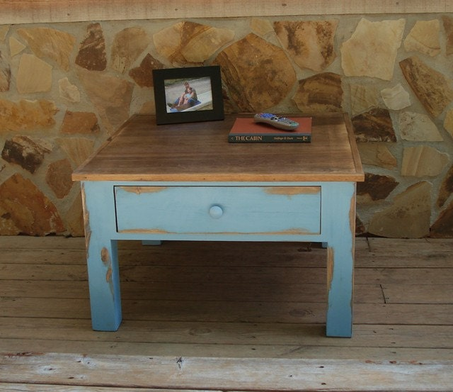 Rustic Reclaimed Wood Square Coffee Table By Theshopatrockcreek