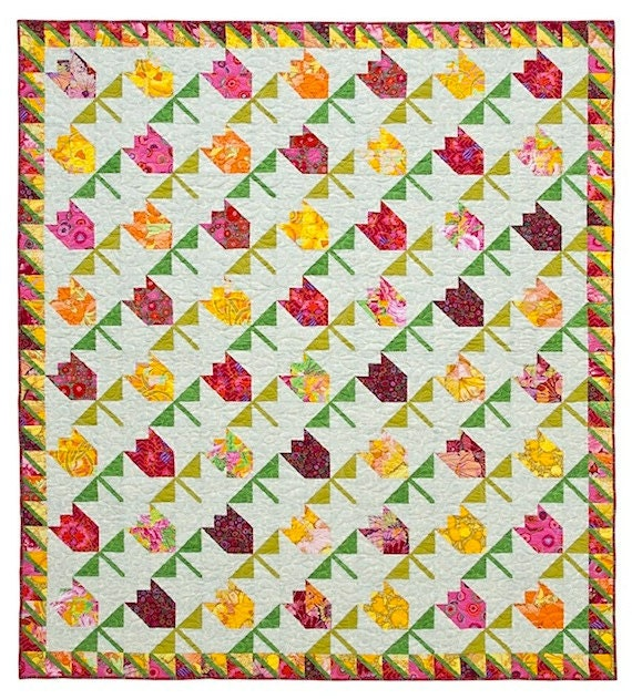 Tulips Quilt Pattern by lnownes on Etsy