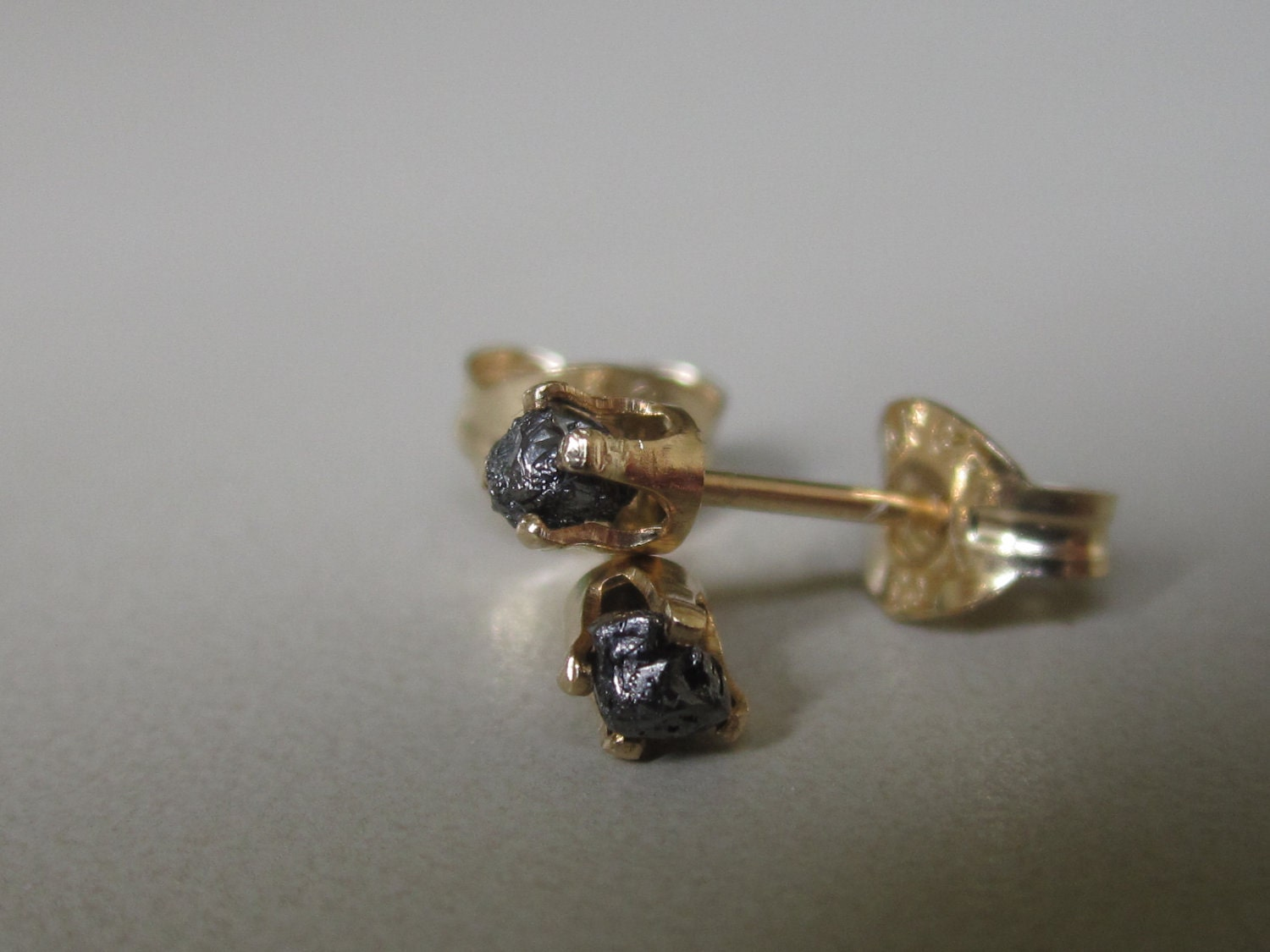 Rough diamond earrings, gold stud earrings, Rough diamond post earrings, 14k Gold filled post earrings