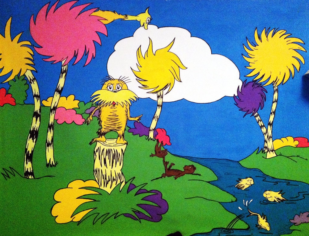 Unavailable listing on etsy for Dr seuss wall mural
