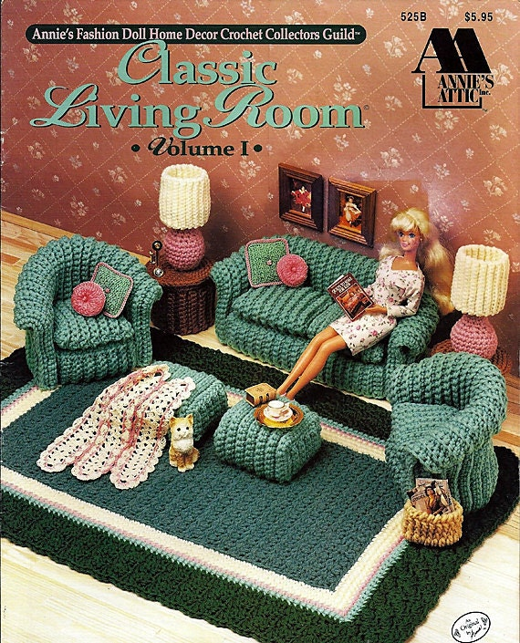 Hassock Table Classic Living Room Volume I Barbie Crochet Furniture Pattern Annies ...