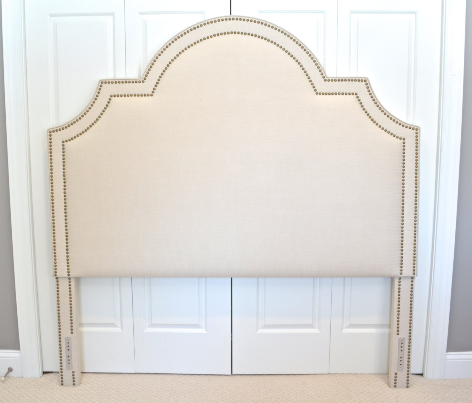 Upholstered Headboard King Queen Full Twin Size Portman Shaped