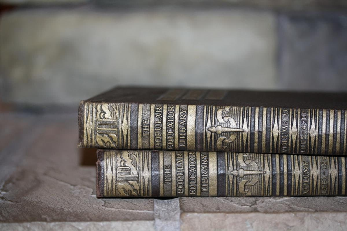 Classic Brown Gold 5 Book Collection Interior Design Vintage Book Decor - jaysworld