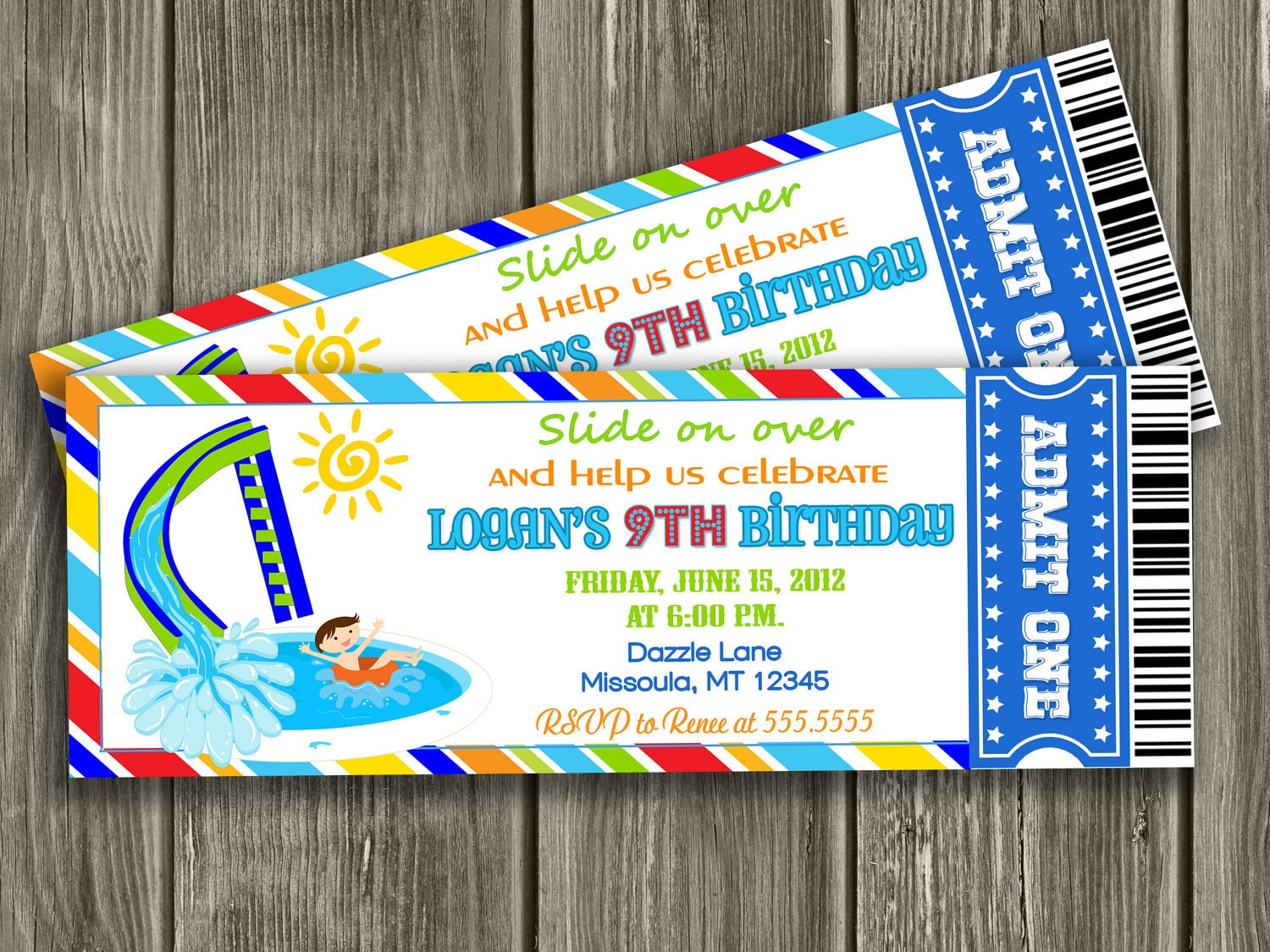 Pool Party Invitations Printable Free – Swim Party Invitations