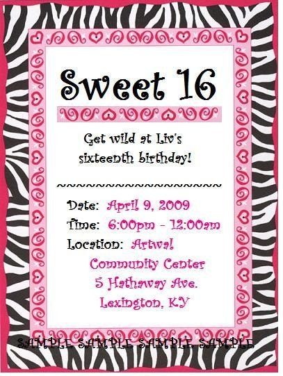 Agile image for printable sweet 16 invitations