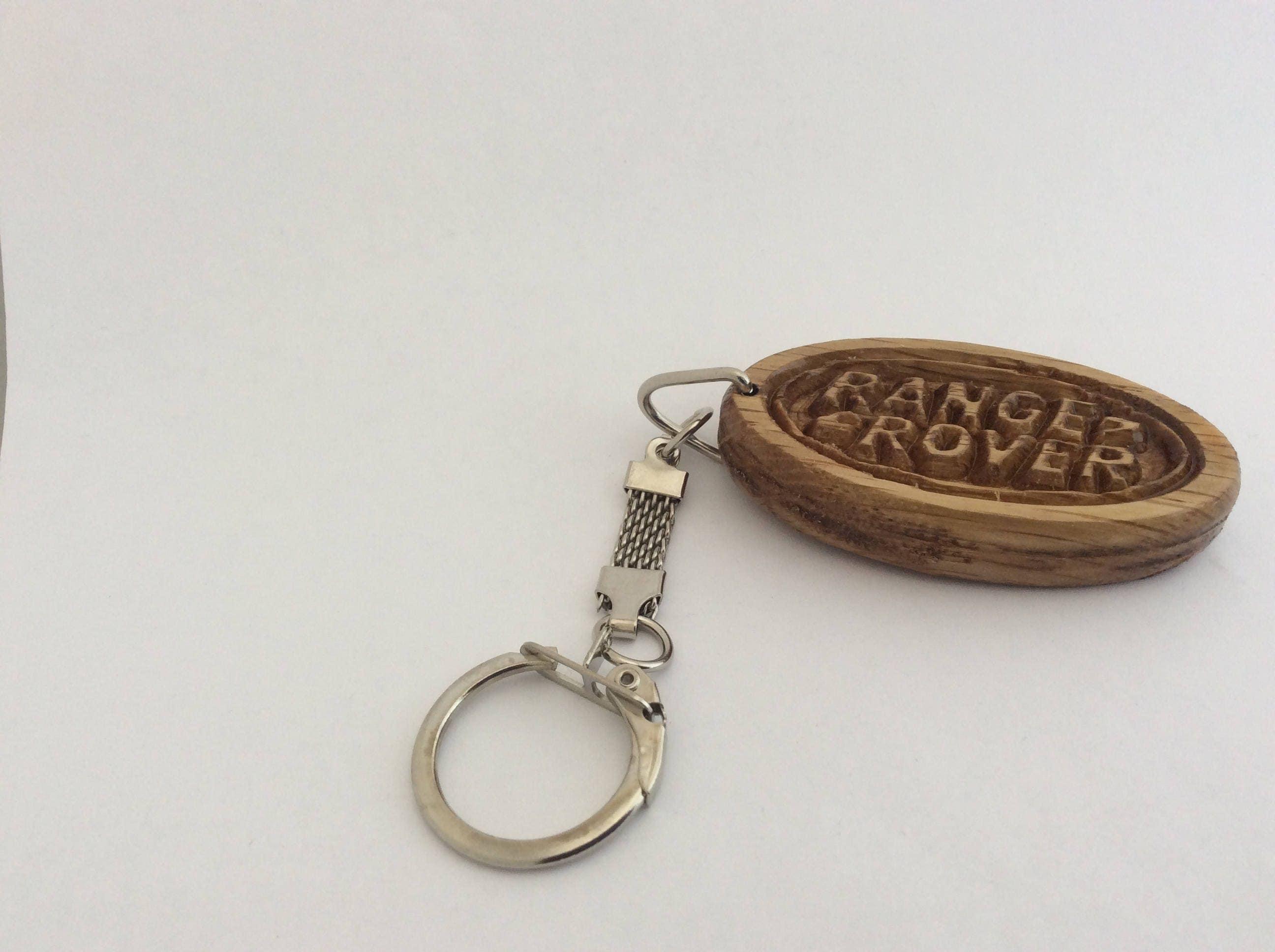 RANGE ROVER Car Logo Keyring Wooden Keychain