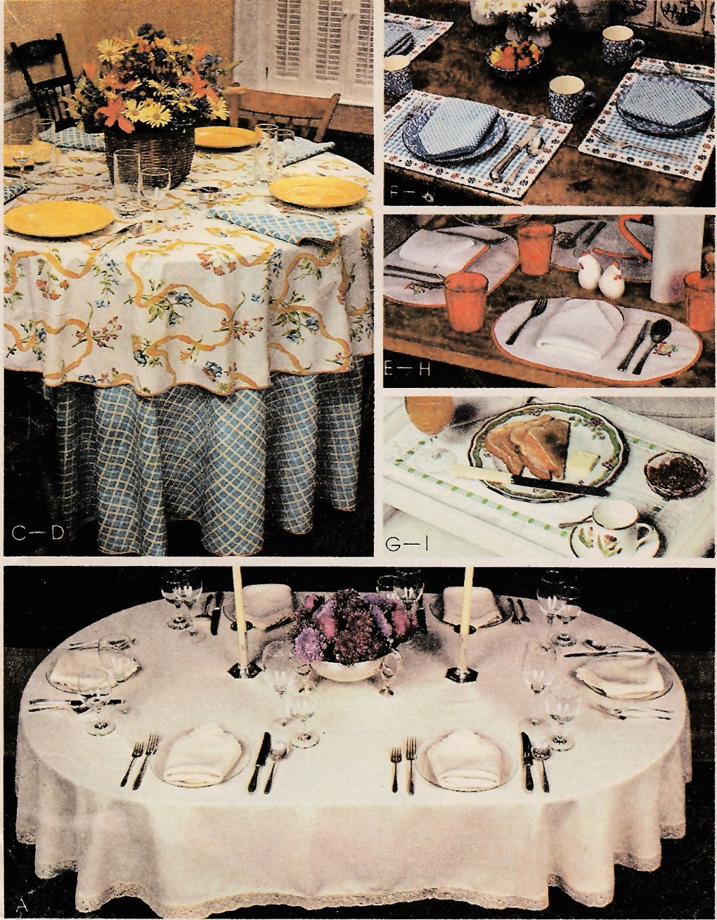 1980s table linens 60 x 96 or 60 x 80 oval by for Table cuisine 80 x 60