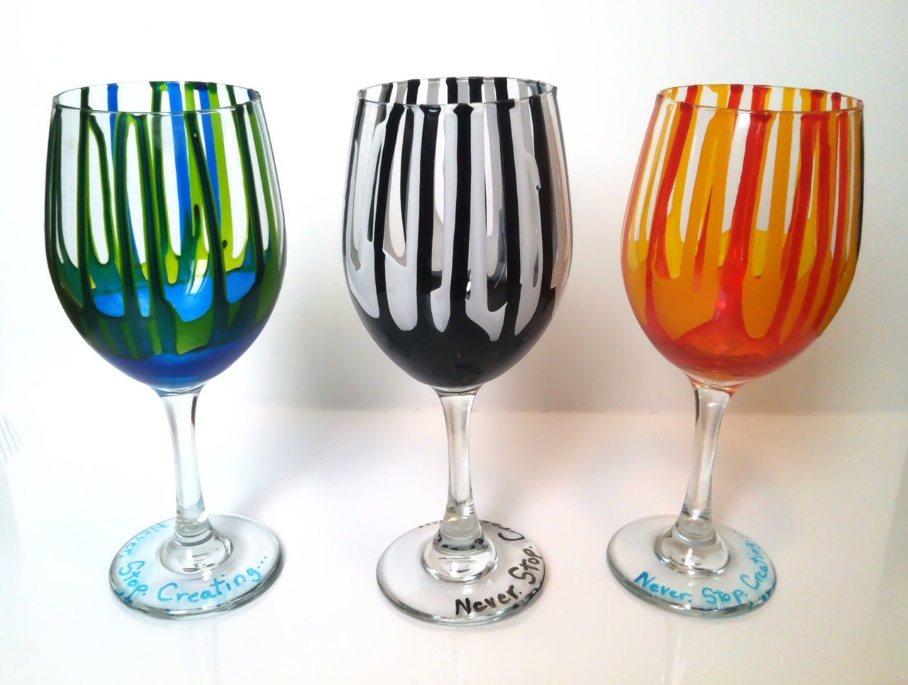 Color Drip Red Wine Glasses By Jayalexcreations On Etsy