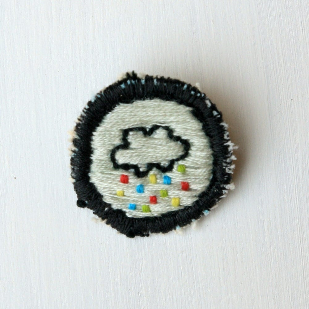 Merit Badge - Rainbow Cloud - goldencatstudios