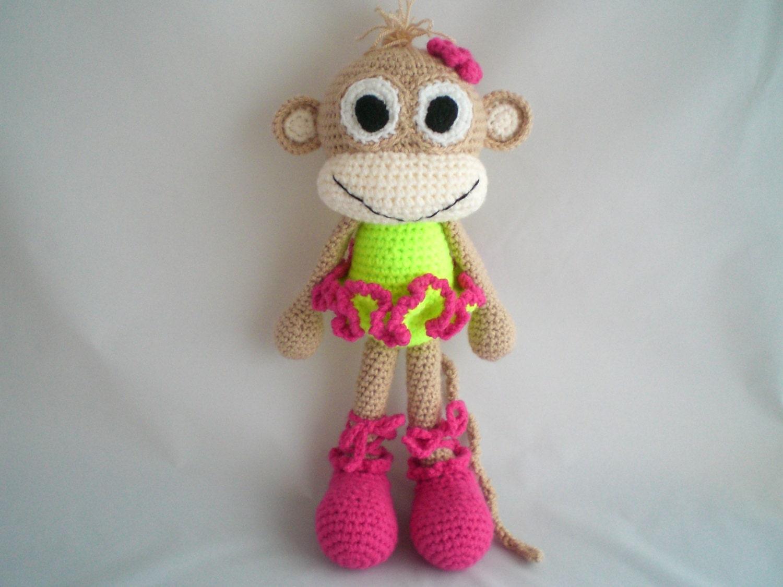 Crochet Ballerina Monkey / Amigurumi Cheeky Monkey Ballerina / Ballerina soft toy / Crochet Ballerina Plush Toy / Ballerina Toy.
