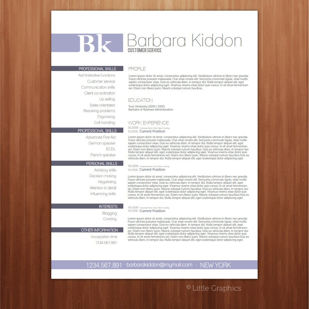 Downloadable resume formats