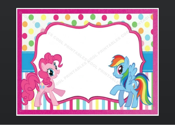 My little pony invitation template my little pony blank invitation birthday thank by coolprintables stopboris Choice Image