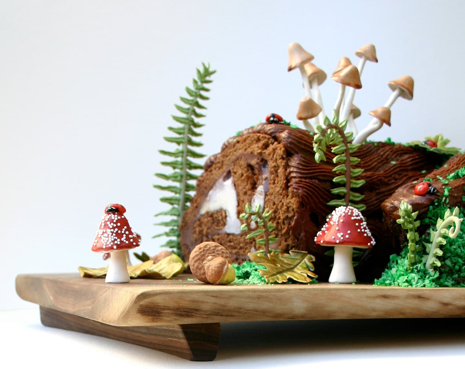 Have your wonder cabinet and eat it too - Buche de noel decorations ...