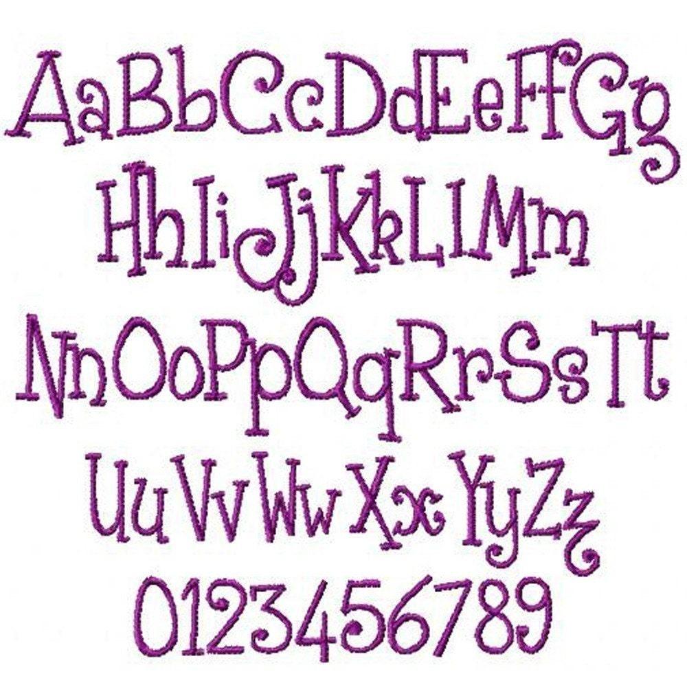 Machine Embroidery Designs Plain Monogram set 170 BUY 2 GET 1 FREE