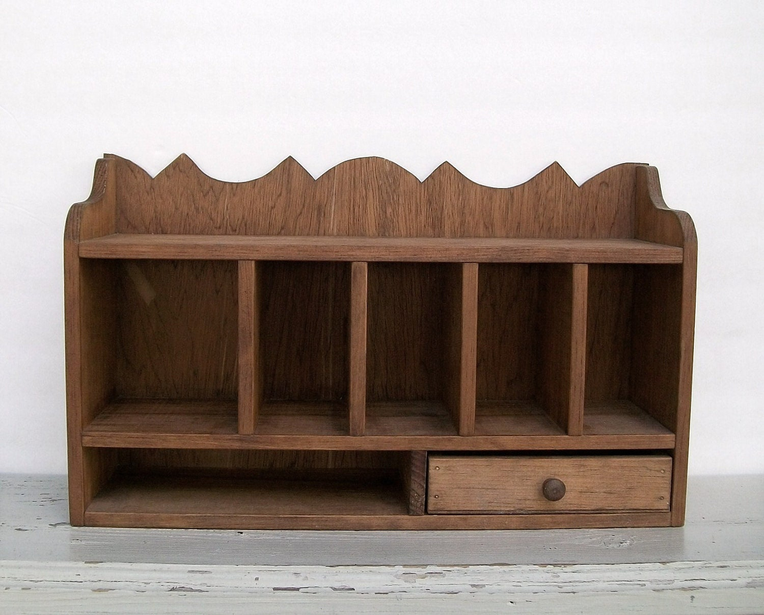 Very Impressive portraiture of Vintage Rustic Wooden Desktop Display Shelf Counter Storage with #2B1A0E color and 1500x1207 pixels