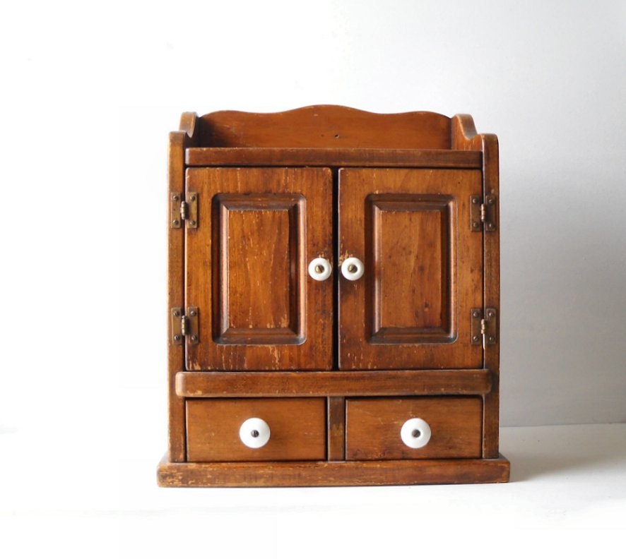 Small Spice Cabinet Vintage Wood Cabinet Small Kitchen By  Momsantiquesnthings