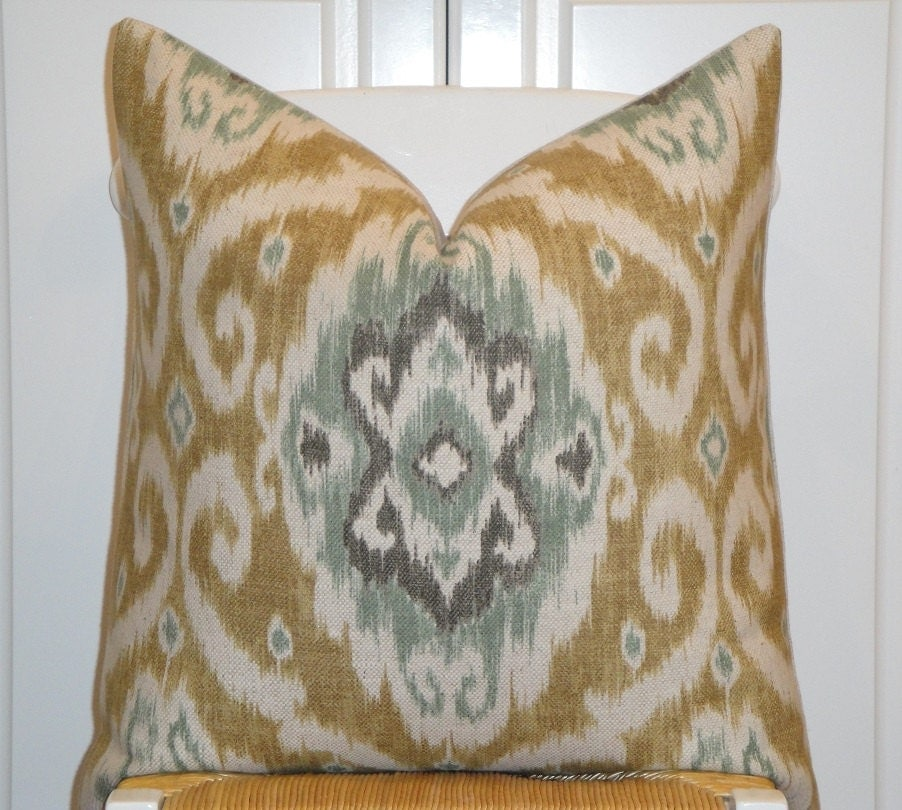 22x22 Throw Pillow Covers : IKAT Decorative Pillow Cover 22x22 20x20 by TurquoiseTumbleweed