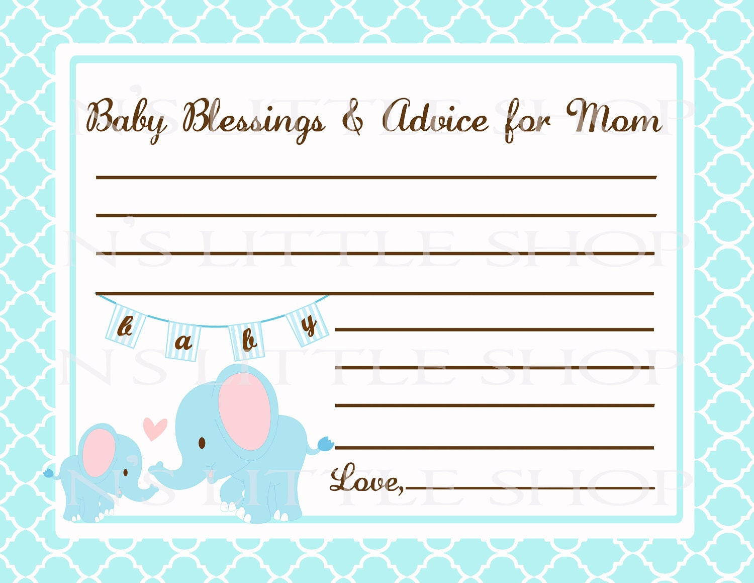 Candid image with mommy advice cards printable