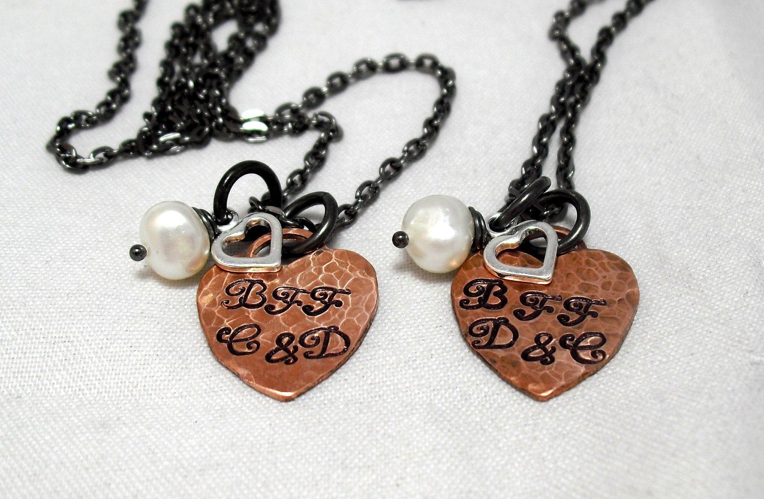 sted best friends necklace set by organicrustcreation