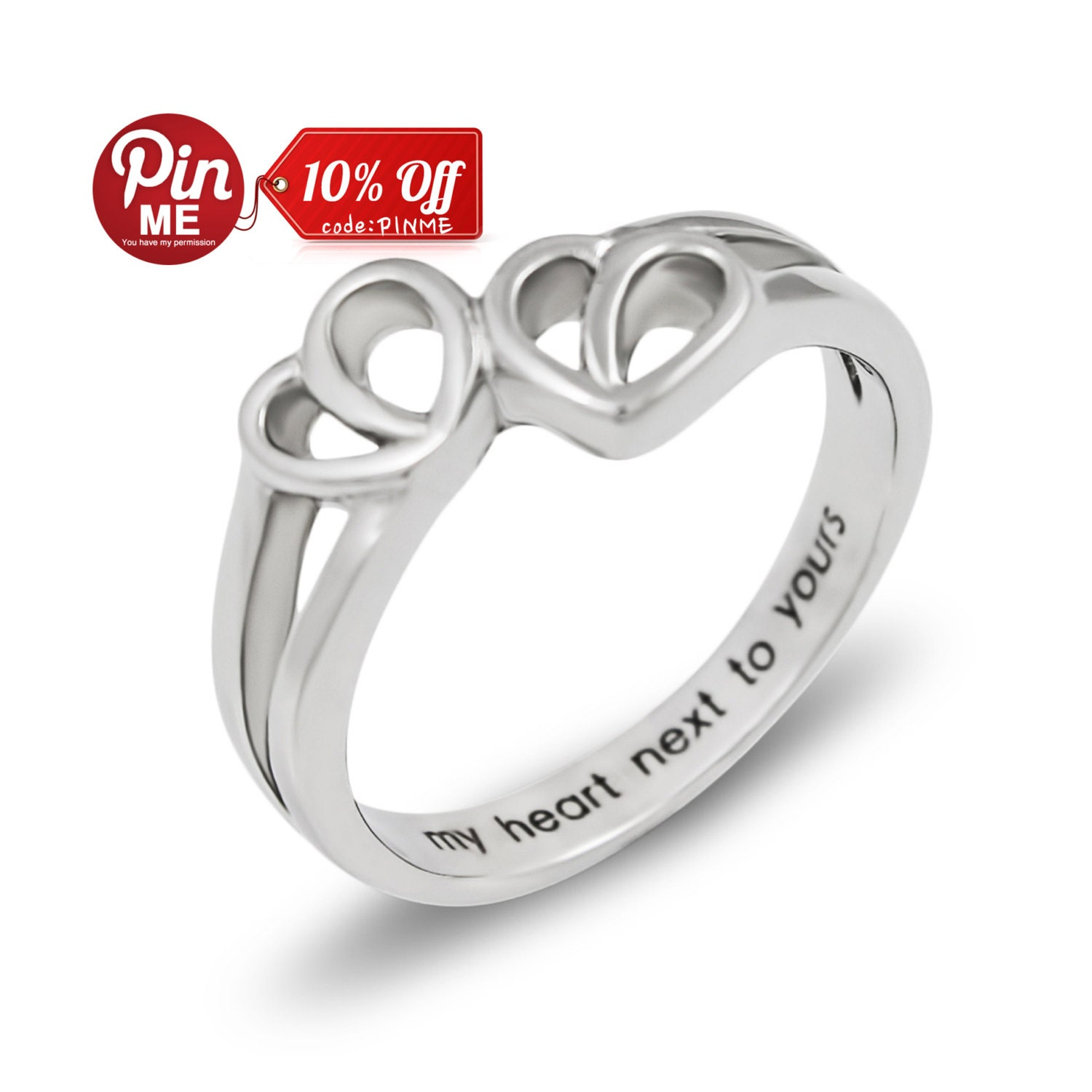 promise ring hearts my next to yours best by