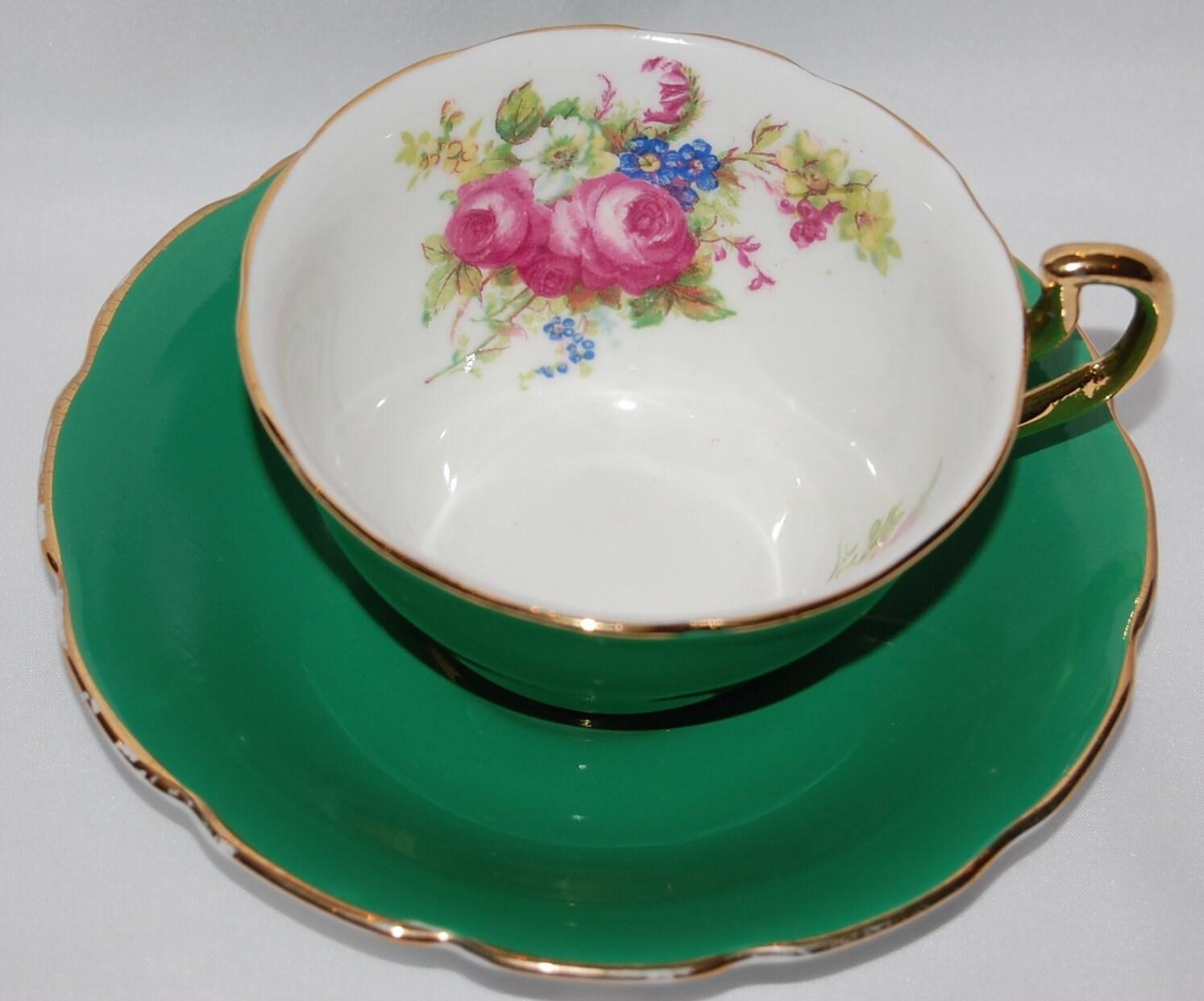 Vanderwood Genuine Bone China Green Tea Cup and Saucer - EfficientsenseFinds