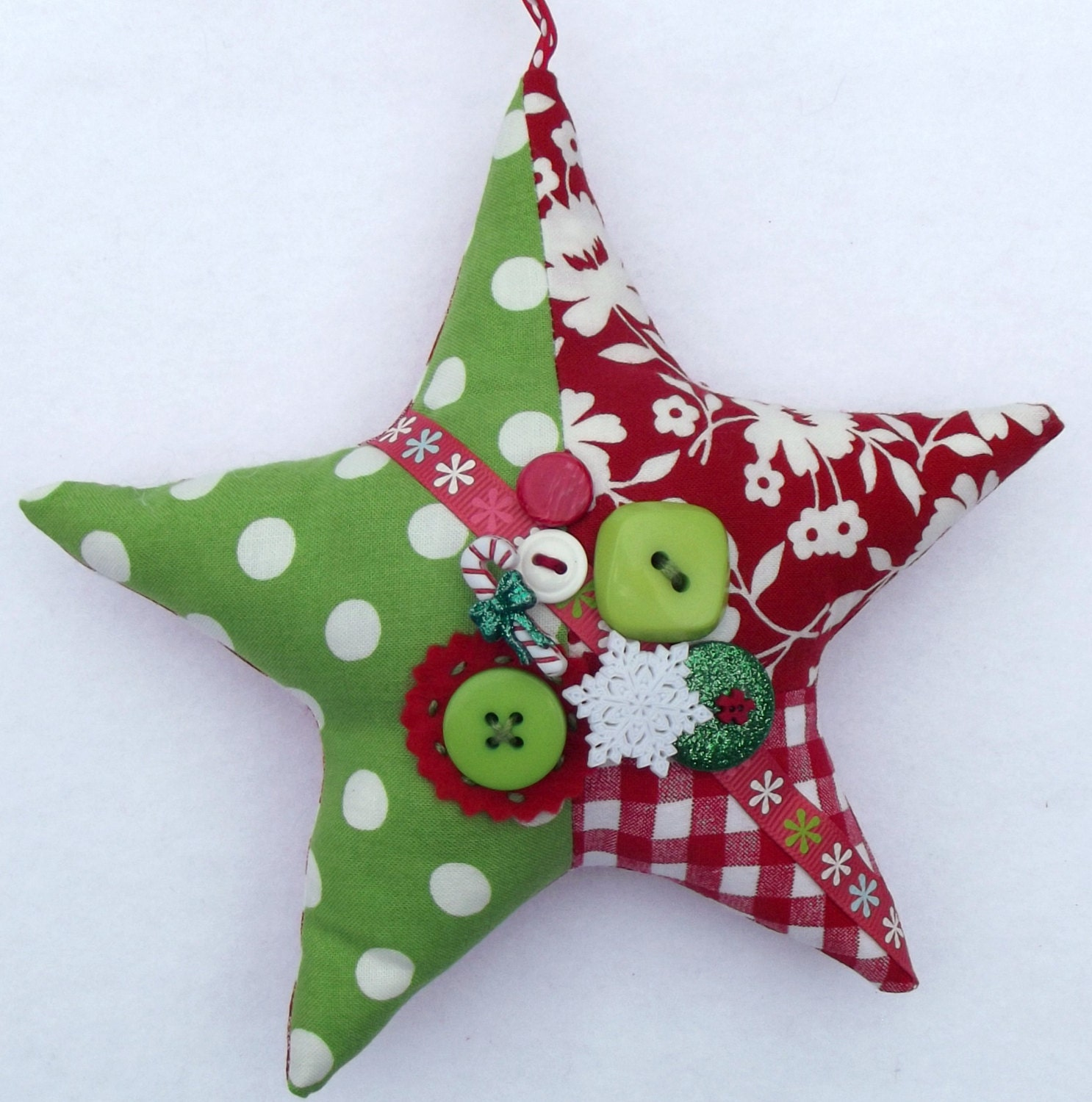 CIJ, christmasinjuly, Star ornament, Christmas Star ornament, Patchwork Star - PigeonHouseHandmade