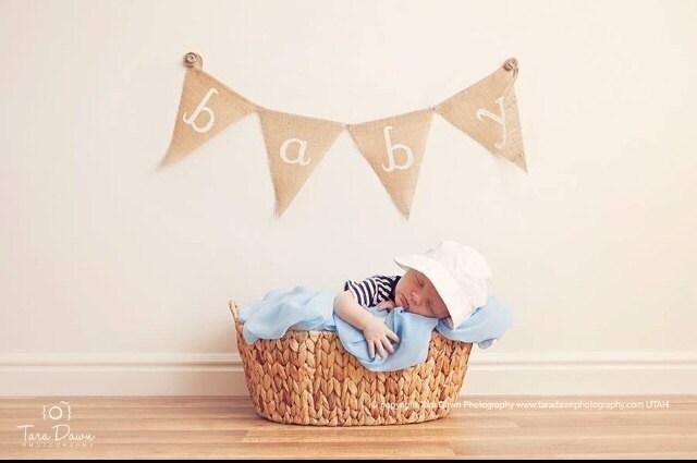 new born baby burlap banner baby banner baby shower burlap banner