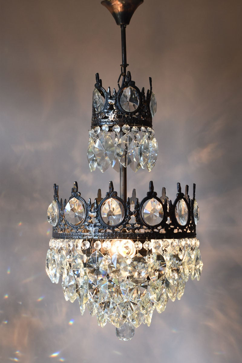 Chic Shabby Luxury Indoor Lighting Home Living Antique Pendant French Vintage Glass Crystal Chandelier Lamp Lighting Ceiling Old Fixture