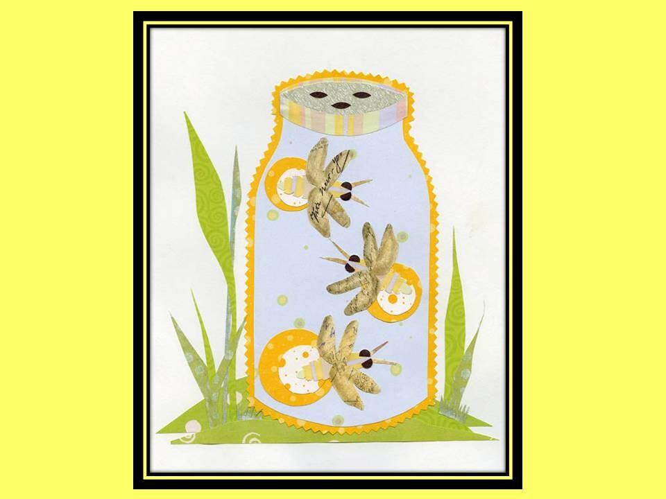 Nursery Art Print Children Room Decor Kid Wall Art Fireflies 8 x 10 collage print - LuminaGallery