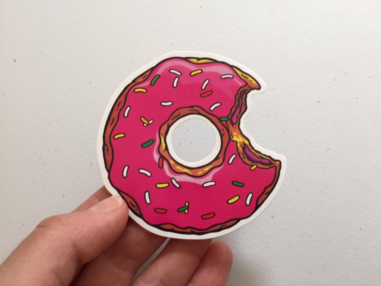 Donut Sprinkles Sticker Doughnut Laptop Sticker Vinyl Sticker Girly Food Sticker Tablet Sticker Donut Gift