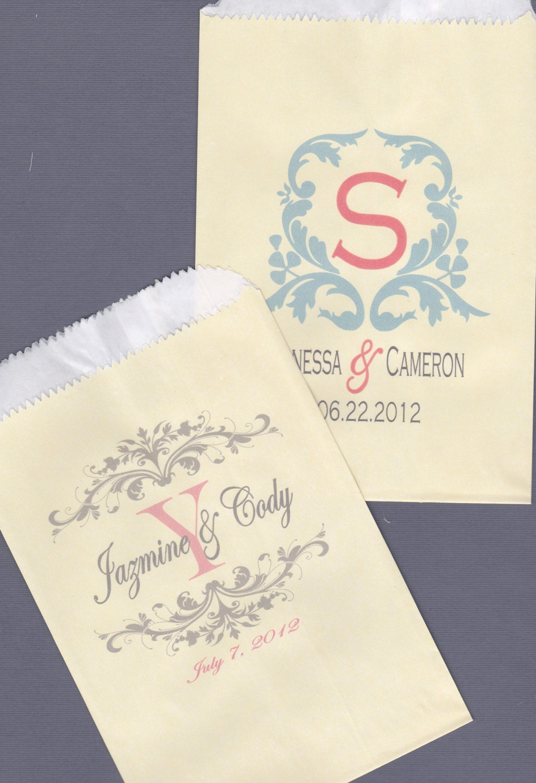 Wedding candy bar candy buffet favor bags cookie by for Cookie bags for wedding